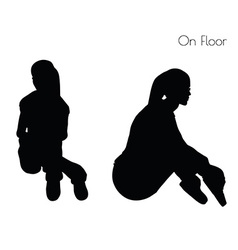 Woman in sitting on floor pose vector