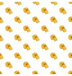 Yellow sport whistle pattern cartoon style vector