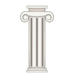 Column icon cartoon style vector