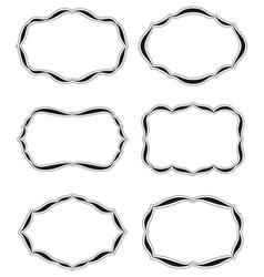 Six blank labels bis vector
