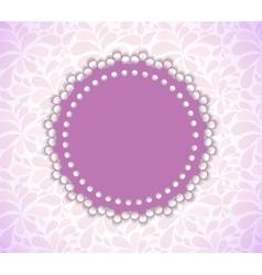 Romantic Flower Frame Background vector image