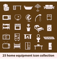 Home equipment icons vector