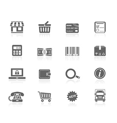 Black icons - shopping vector