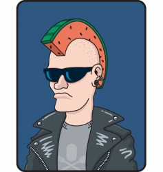 Punk rocker vector