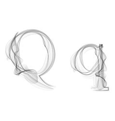 Black Smoke font Letter Q vector image
