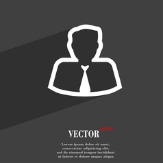 Avatar icon symbol flat modern web design with vector