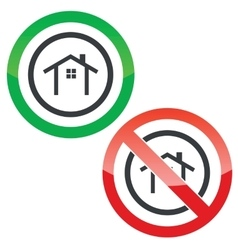 Cottage permission signs vector