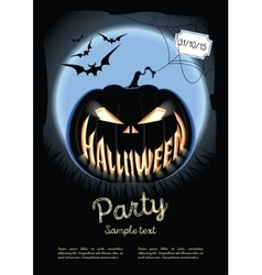 Halloween poster on the background of a vector
