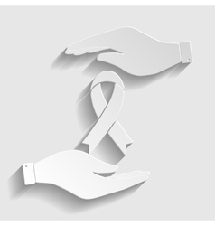 Black awareness ribbon sign vector