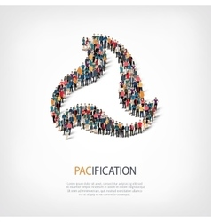 Pacification people sign 3d vector