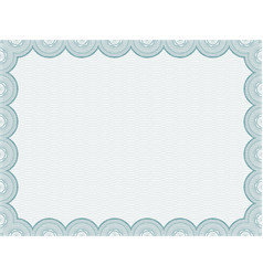 secure blank certificate vector image