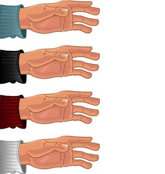 Male hand in color shirt vector image