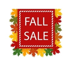 Autumn fall sale maple leaves vector