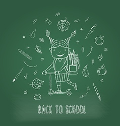 Back to school monochrome vector image