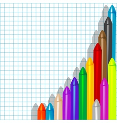 background with crayons1 vector image vector image