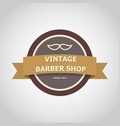 barber shop vintage badge style vector image vector image