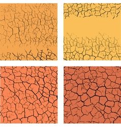 Cracks on the ground vector image
