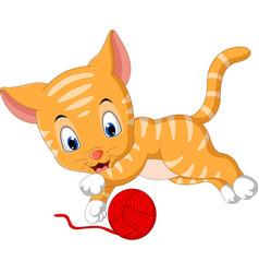 cute cat cartoon vector image vector image
