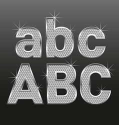 Diamond bold letters 01 vector