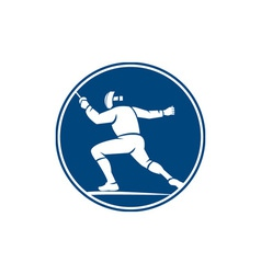 Fencing side circle icon vector