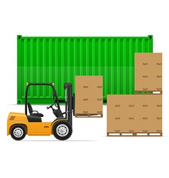Freight transportation concept 02 vector