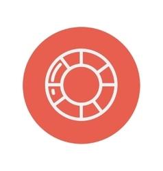 Life preserver thin line icon vector