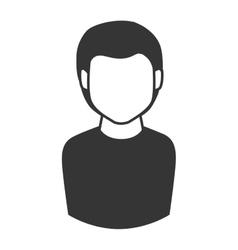 Man guy boy person face head hair icon vector