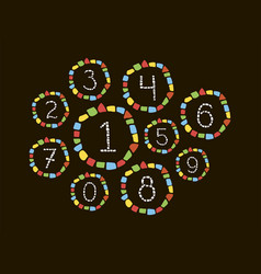 mosaic numbers vector image vector image