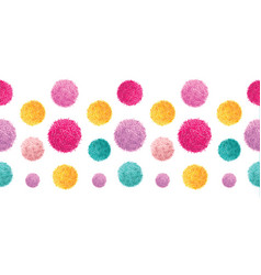 Pink yellow colorful birthday party pom vector