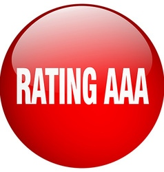 Rating aaa red round gel isolated push button vector