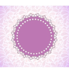 Romantic Flower Frame Background vector image