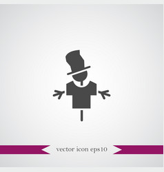 Scarecrow icon simple vector