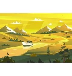 Seashore landscape vector