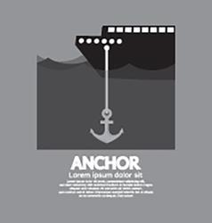 Ship Cast Anchor vector image vector image