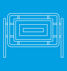 Square fence icon outline style vector