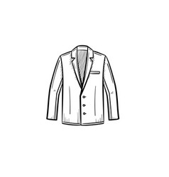 suit jacket hand drawn sketch icon vector image