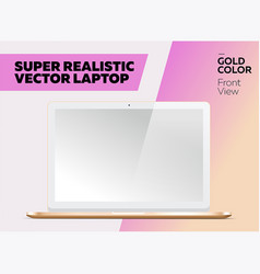 super realistic laptop with blank screen vector image