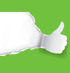 Thumb up for green vector