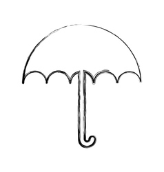 umbrella protection isolated icon vector image vector image