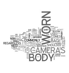 What s new in body worn cameras text word cloud vector