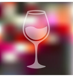 Wineglass icon on blurred background vector