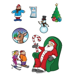winter themes vector image