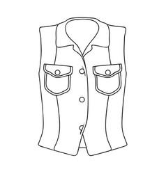 Women sleeveless sports jacket beige button-down vector