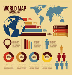 world map infographics and information graphics vector image