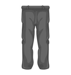 Mens sport pants icon black monochrome style vector