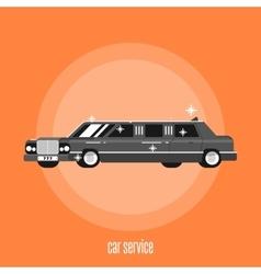 Abstract car service concept vector
