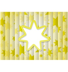 Abstract Background With Yellow Sun vector image