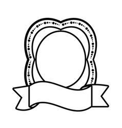 label ribbon decoration empty icon vector image