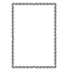 black ornamental decorative frame with ribbon vector image