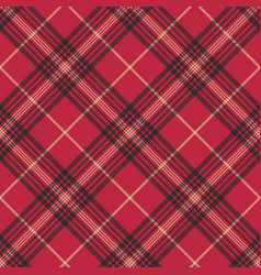 Red check plaid tartan seamless pattern vector